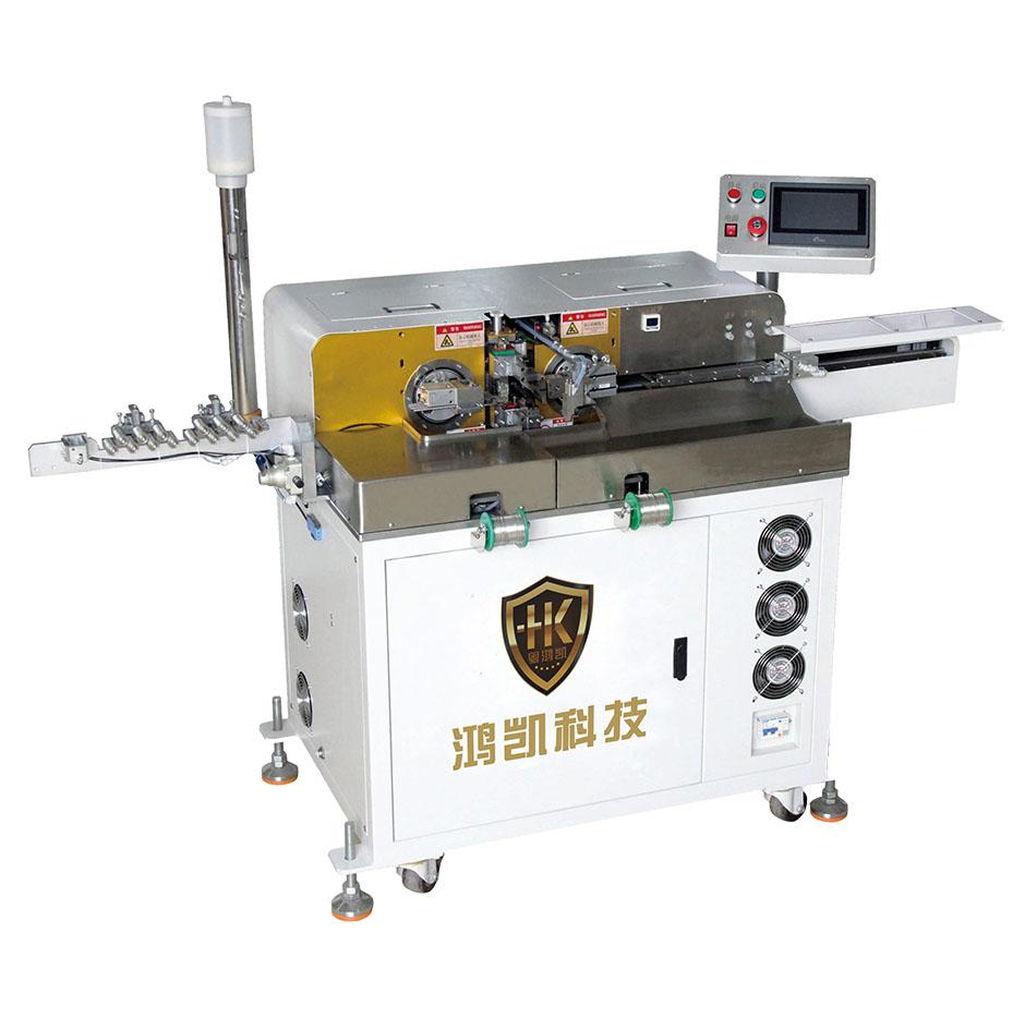 HK-018超高速全自动双头扭线沾锡机